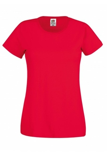 Dames T-Shirt Rood - afb. 1