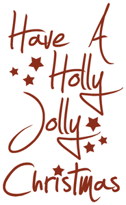 Vel Strijkletters Kerst Have A Holly Jolly Christmas Design Basketball - afb. 2