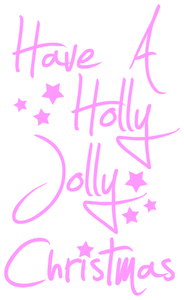 Vel Strijkletters Kerst Have A Holly Jolly Christmas Flex Neon Roze - afb. 2
